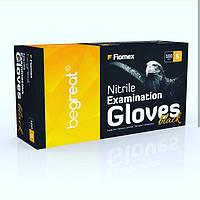 Рукавички нітрилові, чорні Fiomex, premium - 100 шт/уп, S, фото 1