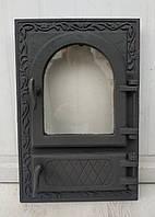 Дверки чугунные ZLFP2 со стеклом ГЕРМЕТИЧНЫЕ. Дверцы для печи и барбекю, фото 1