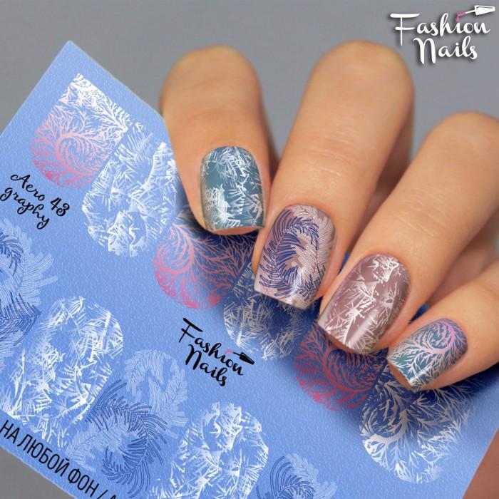 Слайдер-дизайн Зима и Новый Год - Новогодние наклейки для ногтей арт.Aero43