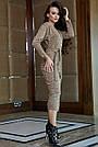 Повседневное платье женское, размеры от 42 до 52, трикотаж, оливковое, фото 2