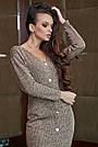 Повседневное платье женское, размеры от 42 до 52, трикотаж, оливковое, фото 3