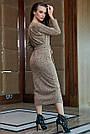 Повседневное платье женское, размеры от 42 до 52, трикотаж, оливковое, фото 6