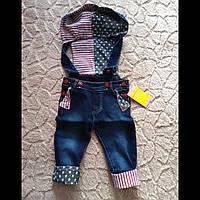 Модный детский комбинезон  с капюшоном « Джинсовый», фото 1