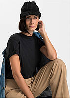 Шапка женская черная с козырьком Bonprix collection