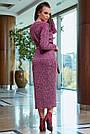 Красивое платье женское миди, размеры от 42 до 52, трикотаж, марсала, фото 7