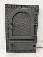 Дверки чугунные ZLFP4 ГЕРМЕТИЧНЫЕ. Дверцы для печи и барбекю, фото 1