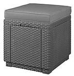 Набор садовой мебели Corfu Set Lyon Max with Cube из искусственного ротанга ( Allibert by Keter ), фото 3