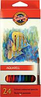 Набор цветных акварельных карандашей 24 шт. KOH-I-NOOR AQUARELL