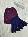 Детский теплый костюм с юбкой на 1,5-7 лет, фото 3