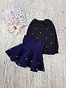 Детский теплый костюм с юбкой на 1,5-7 лет, фото 4