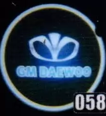 Проекция логотипа автомобиля DAEWOO