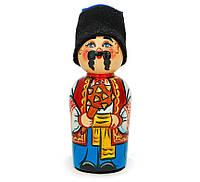 Українська сюжетна лялька пірамідка мала — Козак 12см