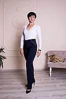 Классические женские брюки с высокой посадкой, черного и синего цвета., фото 1