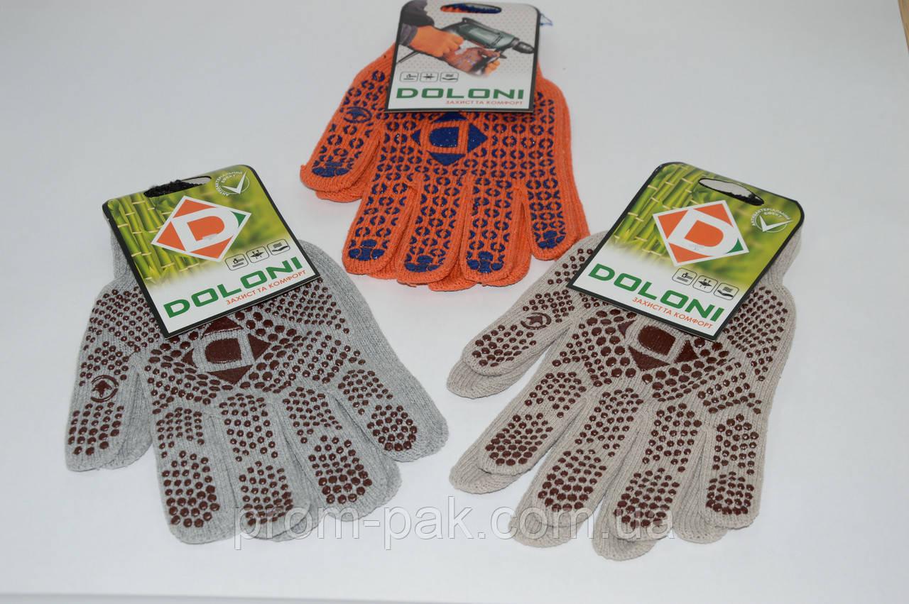 Перчатки трикотажные рабочие Doloni 4 цвета 10 клас
