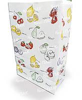 Бумажный пакет 390х260х140мм с печатью Фрукты (Печать как на фото), фото 1