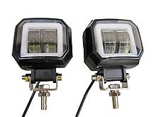 LED Фара STG-20W (квадратная) - 2 штуки