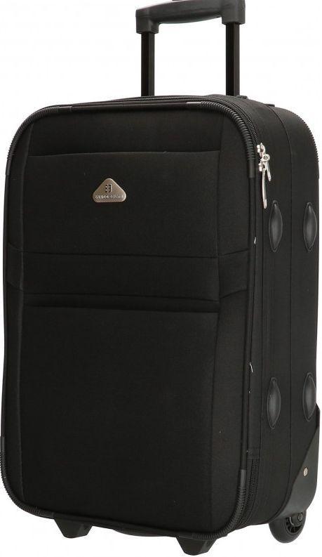 Малый тканевый чемодан Enrico Benetti Lousiana на 32 л, черный