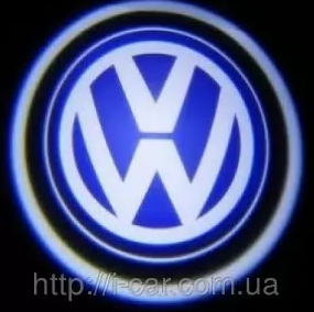 Проекция логотипа автомобиля VOLKSWAGEN