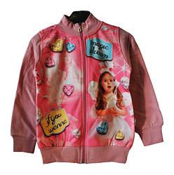 Батник на змейке для девочек от 2-5 лет. Детская одежда оптом.
