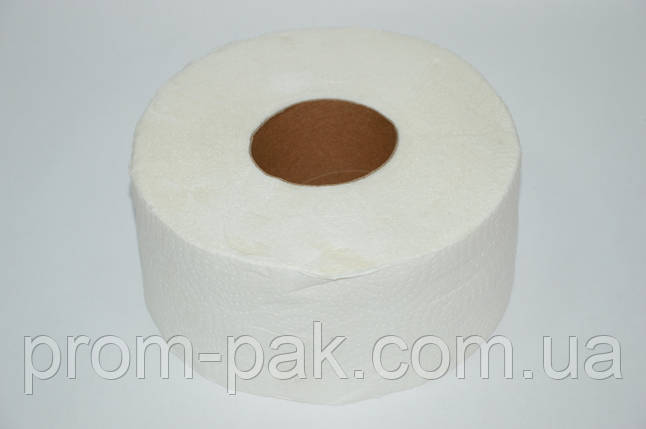 Туалетная бумага Джамбо 2 шара, белый цвет, фото 2