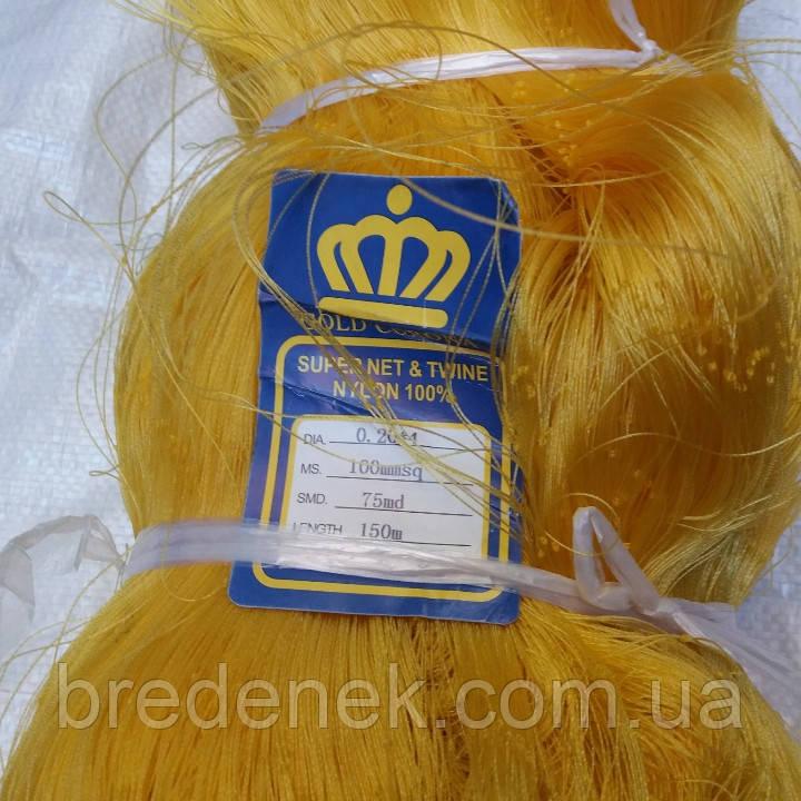 Сетевое полотно Gold Corona Япония мультимонофил 0.2*4 мм ячейки 90,100,110,120 мм размер куклы 75/150