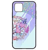 Чехол-накладка TPU+Glass Fantasy светящийся в темноте для iPhone 11 Pro (Бабочка с цветами)