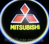 Проекция логотипа автомобиля MITSUBISHI