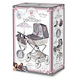 """Кукольная коляска раскладная для девочек DeCuevas """"Reborn"""" 82031, классика, сумка, корзинка, зонт, серая, фото 10"""