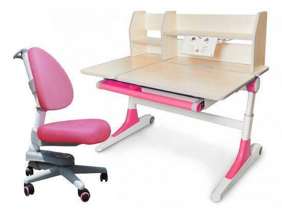 Комплект Evo-Kids кресло Ergotech + парта Ontario с полкой, фото 2