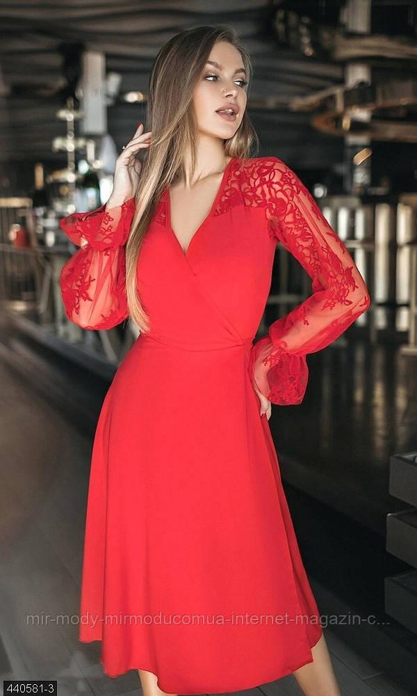 Вечернее платье на запах с 42-46 размер 440581-3 (мш)