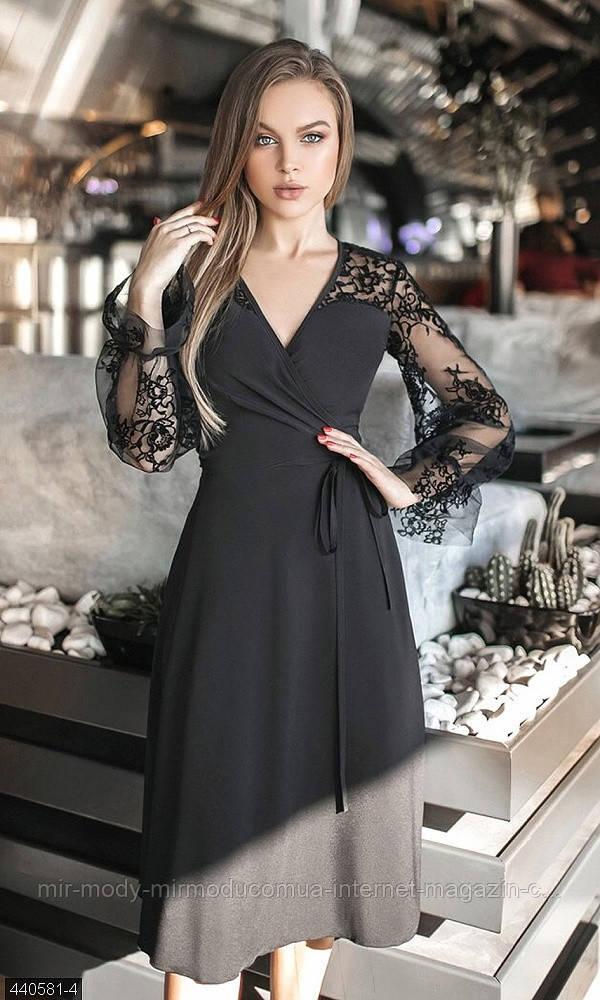 Вечернее платье на запах с 42-46 размер 440581-4 (мш)