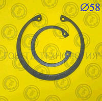 Кольцо стопорное DIN 472 Ф58, фото 1