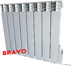 Электрорадиатор BRAVO 8 секций - отопление 16 кв.м