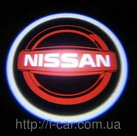 Проекция логотипа автомобиля NISSAN