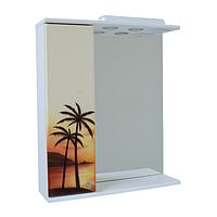 Зеркало для ванной 60-01 левое Пальма