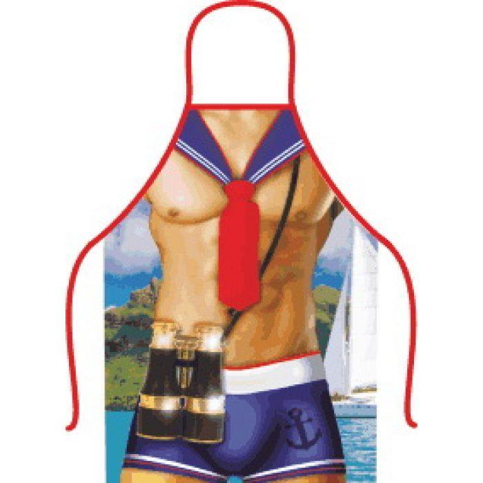 Фартук прикольный Сексуальный морячек, 50х70 см, Плотный габардин, 2324