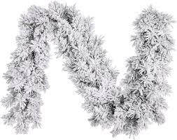 Гирлянда декоративная Black Box Trees Dinsmore Frosted с эффектом покрытия снегом 2.7 м