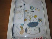 Подарочный комплект Для новорожденых Natural  5ть предметов коровка
