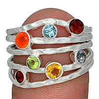 Серебряное кольцо 7 чакр Кундалини, 2109КЦЧ