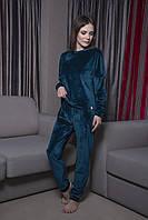 Теплый велюровый костюм-пижама  штаны и кофта  Orli