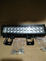 Двухрядная светодиодная LED фара D72W дальнего света, фото 1