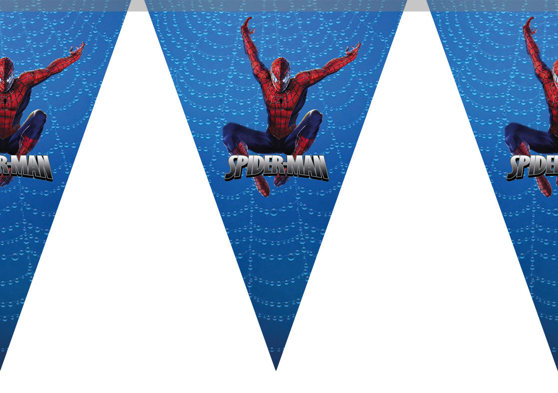 "Гирлянды бумажные ""Человек Паук"" Spider Man"
