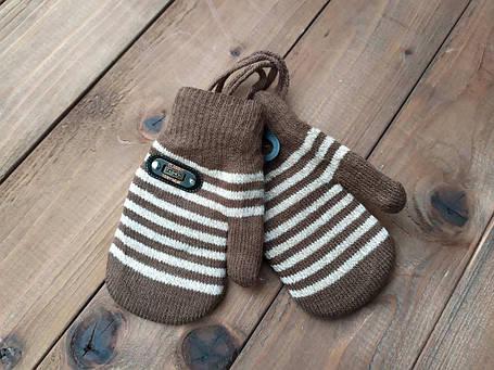 Детские варежкие утепленные коричневые 5006-3, фото 2
