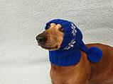 Шапка Санты для собаки вязанная универсальная, фото 2