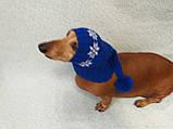 Шапка Санты для собаки вязанная универсальная, фото 8