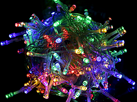 Гирлянда светодиодная LED 200 лампочек 13м. Цветная