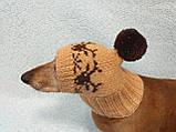Шапка для маленькой собачки с оленями, фото 2