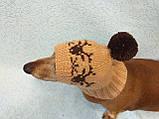 Шапка для маленькой собачки с оленями, фото 3