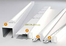 Светильники для подвесного потолка Армстронг  Кraft LED-T-15, 600 мм х 2 (комплект)
