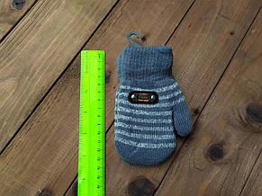 Детские варежкие утепленные  темно-серые 5006-6, фото 2